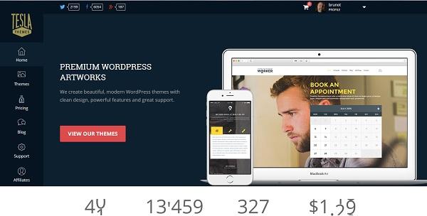 Tesla Themes: thème premium WordPress