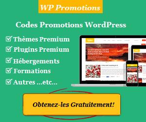 WP Promotions vous propose des codes réduction concernant WordPress