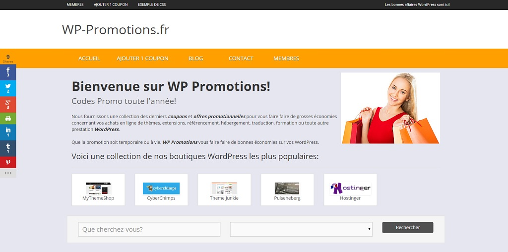 WP-Promotions.fr: codes réduction et promotions concernant l'univers WordPress